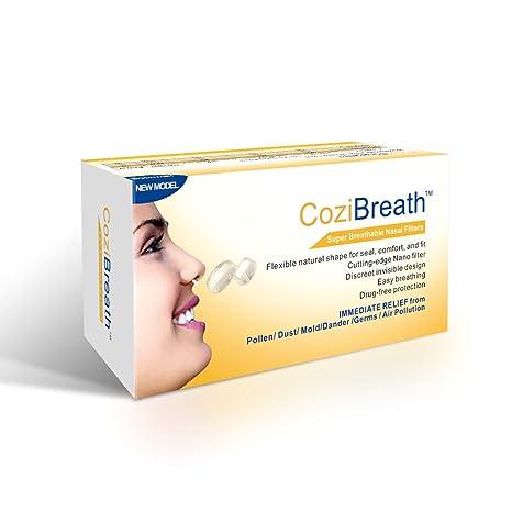 Cozibreath Ventilación (Súper Respirables Nasales Filtros Series) Nariz Máscara Reducen las Partículas de Contaminación