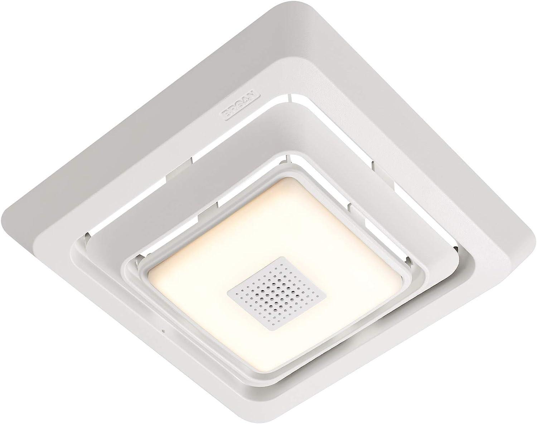 Broan Nutone Fg800spks Bluetooth Speaker Bathroom Exhaust Grille Cover With Led Light Bath Fan White Amazon Com