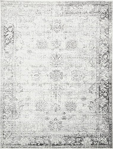 (Unique Loom 3134029 Sofia Collection Traditional Vintage Beige Area Rug, 9' x 12' Rectangle, Gray)