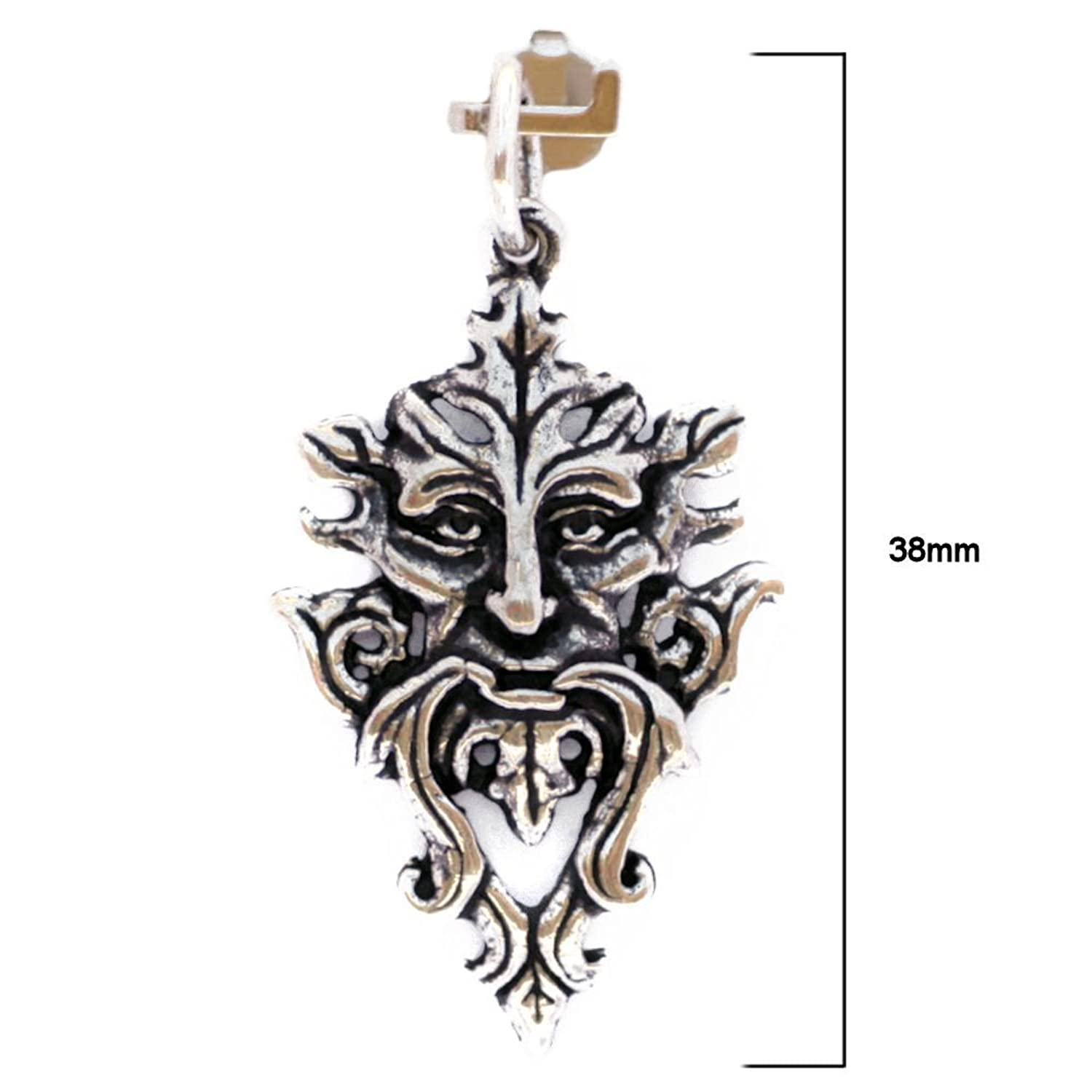 Solid Sterling Silver Green Man Tree Spirit Pagan Pendant Talisman (P003) EPCAI