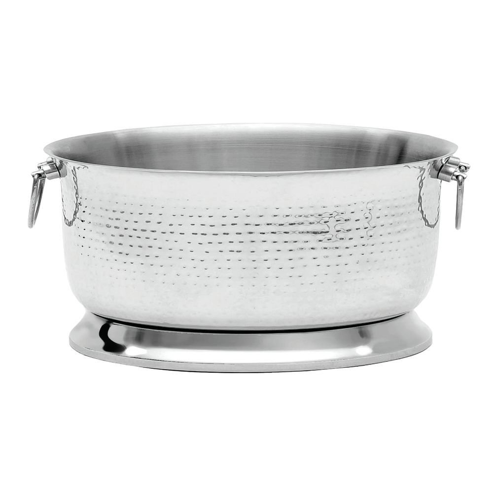 Expressly HUBERT Brushed Hammered Stainless Steel Double Wall Ice Merchandiser - 19''Dia x 11''H by Hubert (Image #1)
