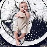 HILTOW Round Rugs Baby Rug Nursery Rugs Cute Fox