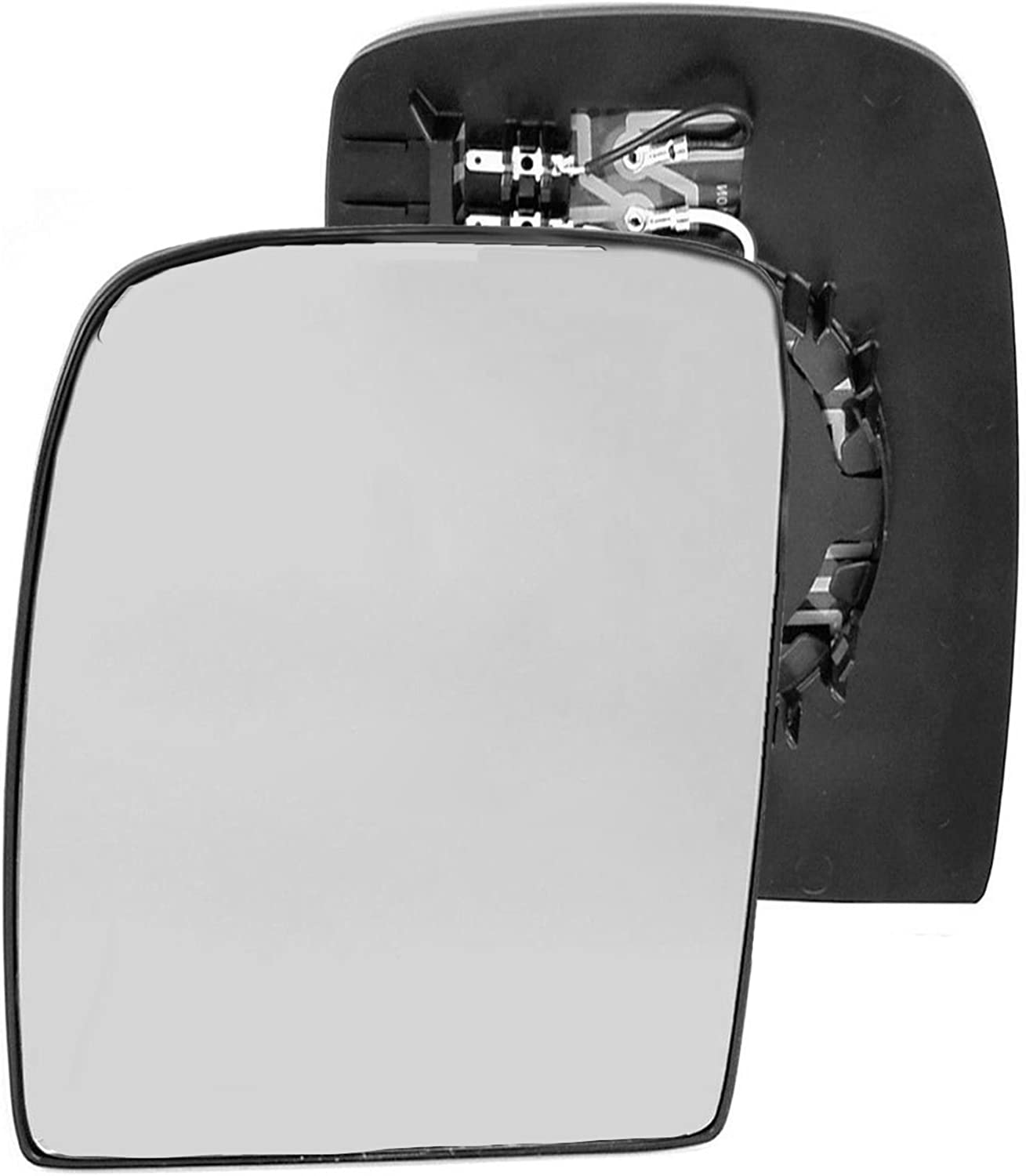 Passenger left hand side Heated wing door Silver mirror glass with backing plate #C-SHY//L-PTET07 Clip On