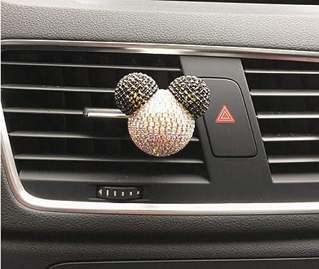 Zeenca Strass Mickey Mouse Parfüm Auto Lufterfrischer Auto Parfum Auto Styling Baumarkt