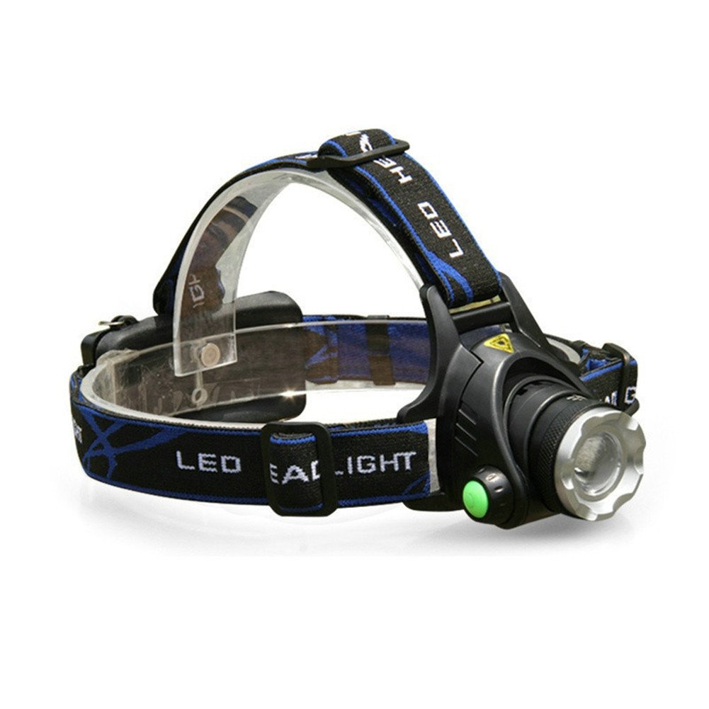 GS High Power CREE XML-T6 Led Headlight Waterproof Zoomable LED Headlamp Head Lamp Torch Frontale Headlight For Hunting Fishing Camping by G&S (Image #4)