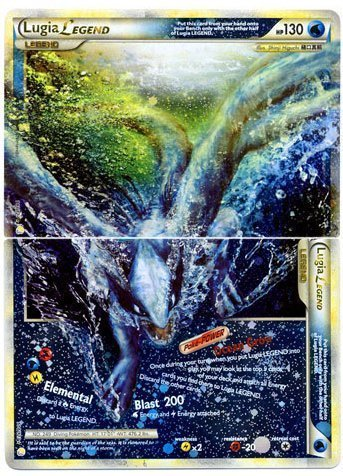 Amazon.com: Lugia Legend (Full - Top and Bottom) Pokemon Card ...