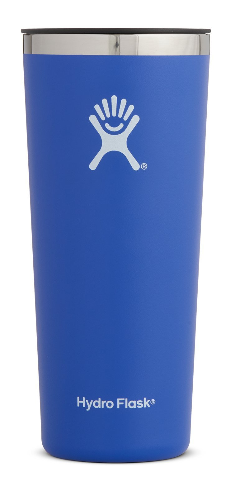 Hydro Flask 22 oz Double Wall Vacuum Insulated Stainless Steel Travel Tumbler Cup with BPA Free Press-In Lid, Blueberry