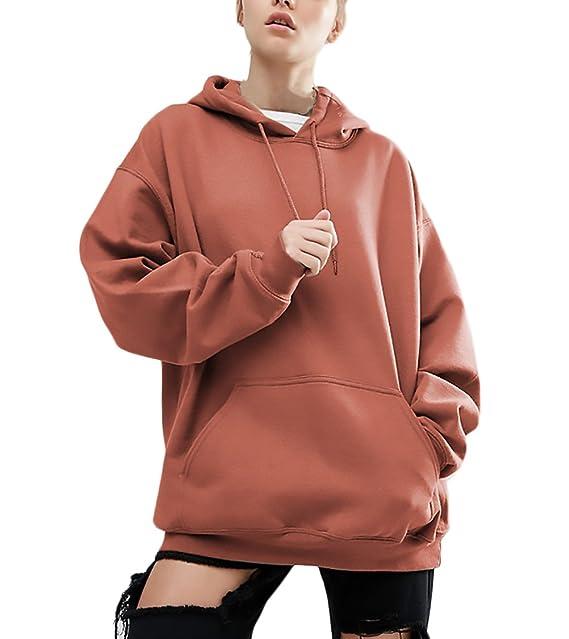 Mujer Sudaderas con Capucha Deportivas Anchas Tallas Grandes Sweatshirts Invierno Modernas Casual Otoño Chica Elegantes Manga Larga con Bolsillo Color ...