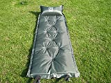 WWL Fashion Self-Inflating Sleeping Pad with Attached Pillow Compact Lightweight Camping Air Mattresses