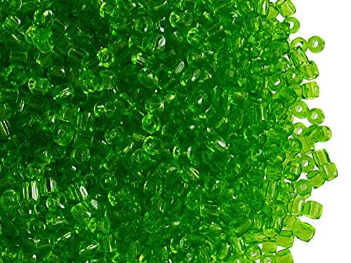 (10gr 10/0 3-Cuts Preciosa Czech Round Glass Seed Beads,Light Green Transparent)