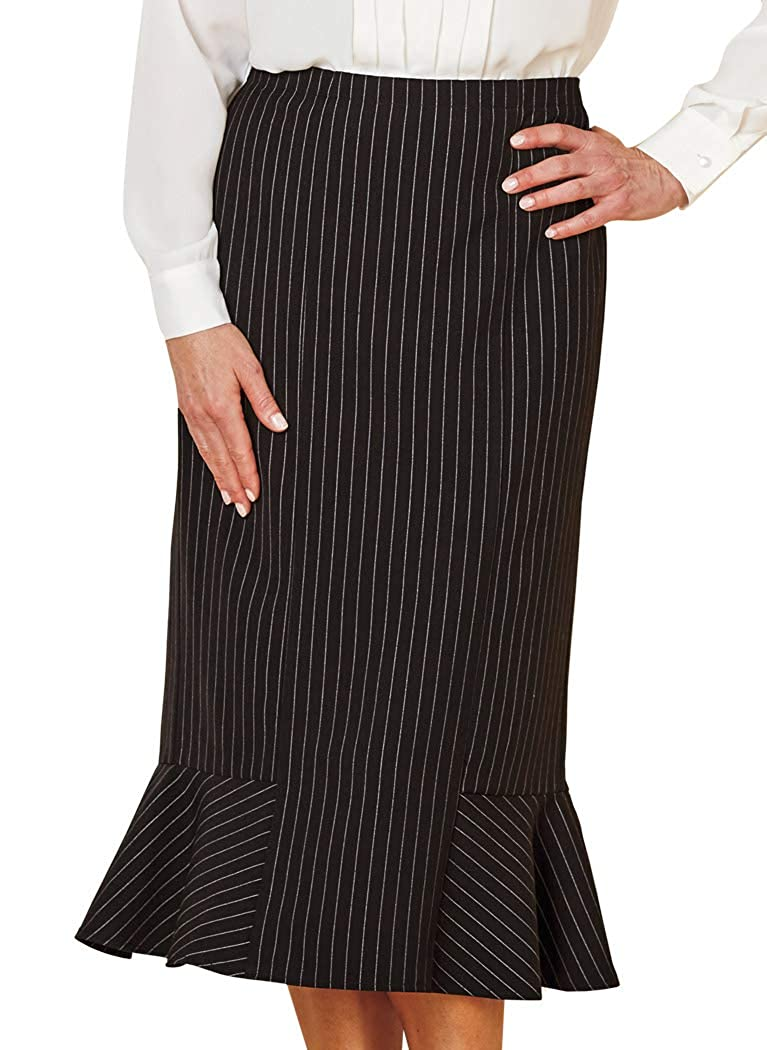1930s Style Skirts : Midi Skirts, Tea Length, Pleated AmeriMark Flounce Hem Skirt $31.99 AT vintagedancer.com