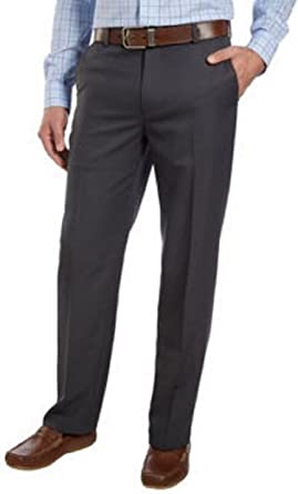 IZOD Men's Flat Front Straight Fit Dress Pant