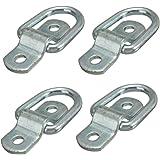 Shineus - Anelli di fissaggio in acciaio, a forma di D, per teloni, carichi, carrelli, punti per ancorare rimorchi, furgoni, barche, fuori strada, camion, trasporti per cavalli, corde