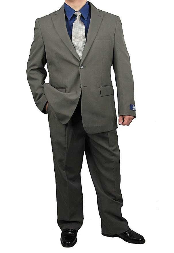 1940s Men's Suit History and Styling Tips Sharp 2-Piece Mens 2 Button Dress Suit $109.50 AT vintagedancer.com