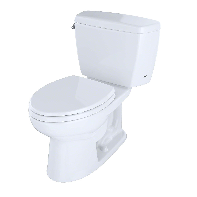 TOTO CST744E#01 Eco Drake Two-Piece Elongated 1.28 GPF Toilet ...