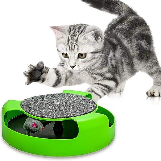 PowerKing Juguetes para Gatos, Juguetes interactivos para Gatitos con Ratones para Correr y Alfombrilla para rascar: Amazon.es: Productos para mascotas