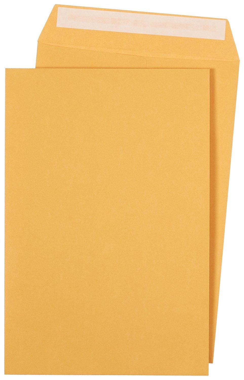 Office Basiks Catalog Envelopes, Peel & Seal, 6 x 9 inch, Brown Kraft, 250-Pack