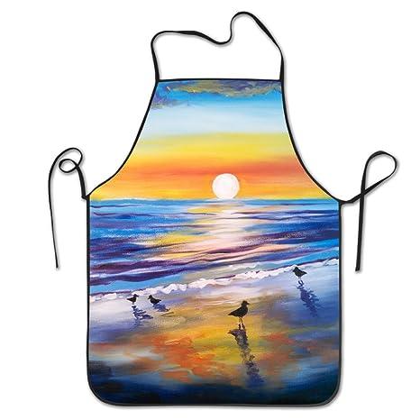 Unisex puesta de sol playa pintura al óleo restaurante hogar ...