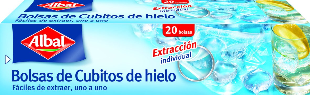 Albal - Cubitos Hielo, 20 bolsas