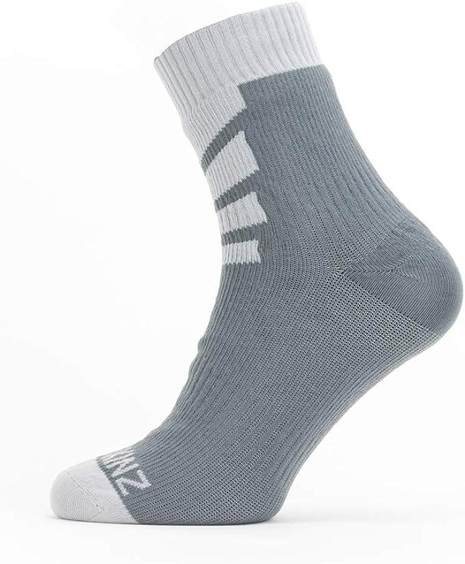 Grey SealSkinz Waterproof Warm Weather Ankle Length Socks Black