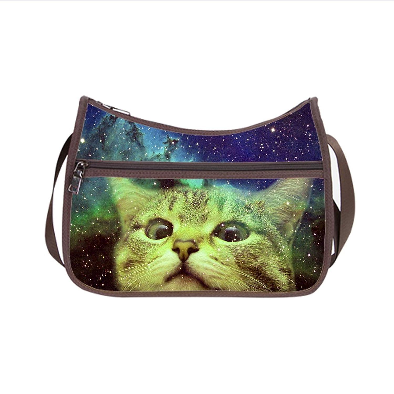 HS@AK Custom Galaxy Space Cat handbag Messenger Shoulder Bag (Twin Sides )
