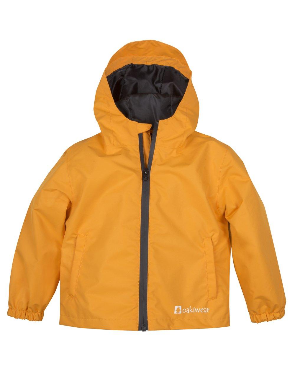 Oakiwear Kids Core Rain Jacket by Lava Orange 4/5 by Oakiwear