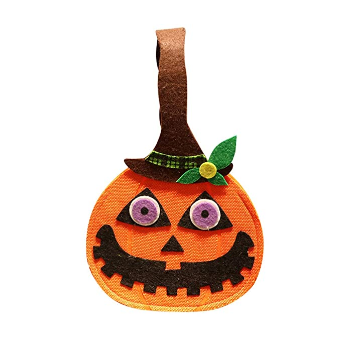 Amazon.com: Meanit Bolsas de Halloween no tejidas para truco ...