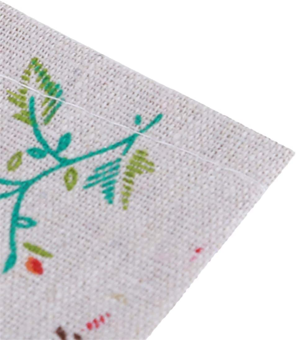 Yingwei VWH Cotton Linen Tissue Box Cover Cartoon Wipes Tissue Holder Dispenser Blue