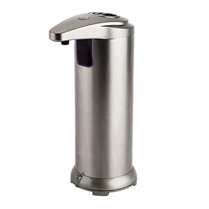 Supmovo Automatic Soap Dispenser, Kithchen Bathroom Soap Dispensers,  Stainless Steel Soap Dispenser, IR