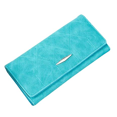 Malloom® nuevo moda dama mujeres chica largo monedero Monedero del embrague billetera Bolsa Zip Titular de la tarjeta (azul (blue))