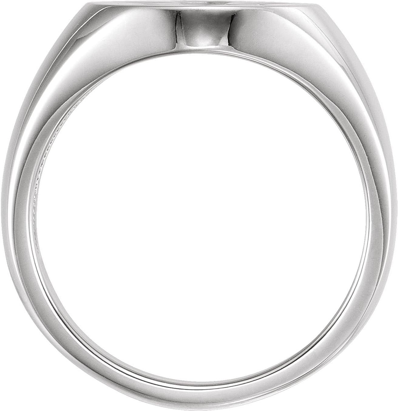 Bonyak Jewelry Sterling Silver 16x11 Oval Fleur-de-lis Signet Ring Size 10