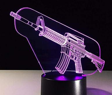 Lámpara LED 3D Interruptor táctil de 7 colores Mesa de mesa Lámpara de lavado de luz