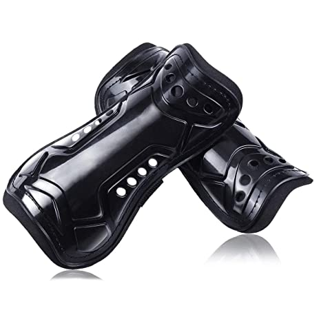 cjixnji Youth Kids Soccer Shin Pads,Unisex Perforated Breathable Soccer Shin Guards Board,For Children,Teenagers Adult,Boys,Girls Football Games Leg Calf Protective Gear Soccer Equipment