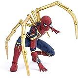 DS- 子供のおもちゃ アベンジャーズ・インフィニティ・ウォー・アイアン・スパイダー15cm BJDスパイダーマン・スーパーヒーローフィギュアおもちゃ &&