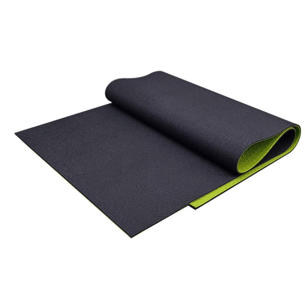 LXFMD Hochdichte, rutschsichere Schwarze Yogamatte, die Yoga-Sport-Fitness-Sprungmatte ausführt (Farbe   A)
