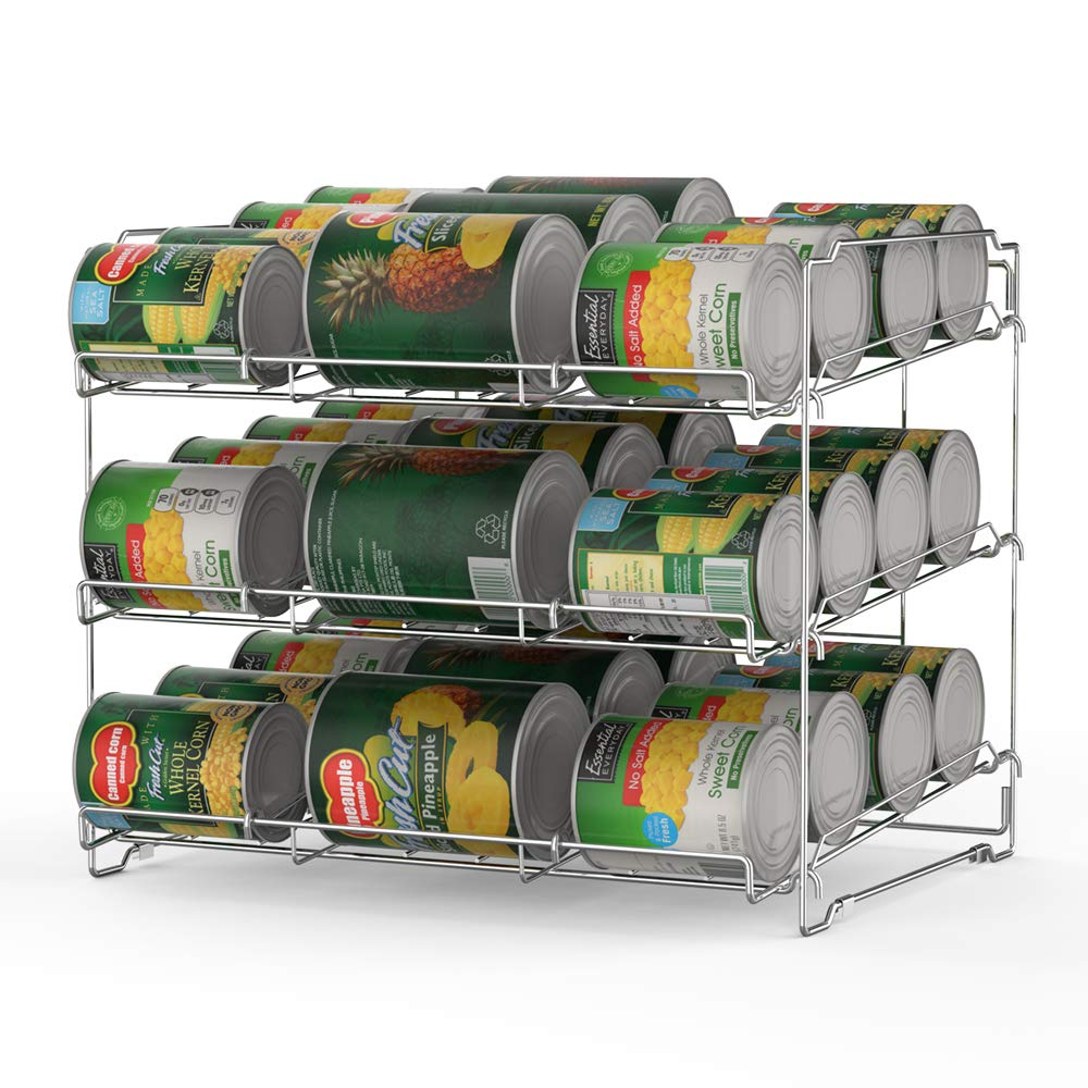 NEX Stackable Can Rack Organizer, 3-Tier Can Rack Holds Up To 36 Cans