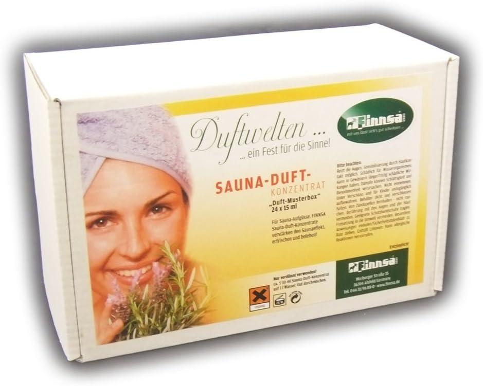 Spa Sauna Saunaufguss Duftkonzentrat Duftbox Saunaduft 24 Düfte von Finnsa