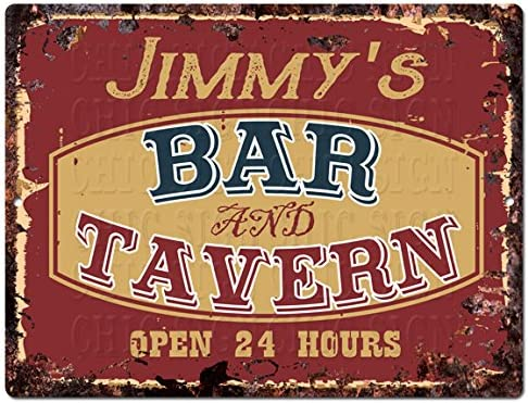 Metal Tin Sign jimmy's customs Decor Bar Pub Home Vintage Retro Poster Cafe ART