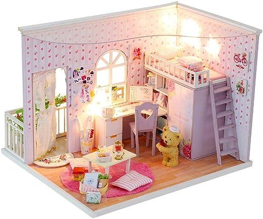Rolife DIY Wooden Room Dollhouse Miniature Doll House Handmade Toy Birthday Gift