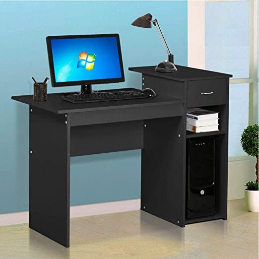 Asbjxny Melamine MDF Board Computer Desk PC Table with Drawer ...