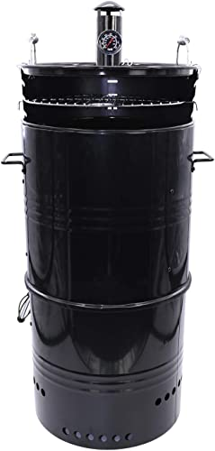 Hakka 18-Inch Multi-Function Barbecue and Charcoal Smoker Grill