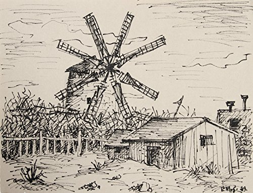 Farmhouse with Windmill 242 by