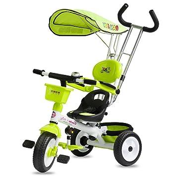 ZXUE Triciclo para Niños Cochecito para Bebés Bicicleta para Niños Bebé Carrito para Bebés Bicicleta 1-5 Años (Color : Verde): Amazon.es: Hogar