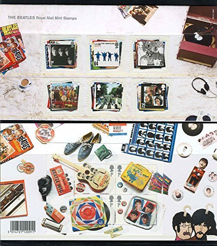 Royal Mail The Beatles John Lennon, Paul McCartney, Ringo Starr, George Harrison Collectible Presentation Pack Postage Stamps - Beatles Collectible