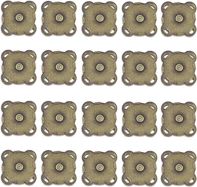 10 Set prune forme magnétique boucle pour Fermoirs Fermeture À faire soi-même Apparel Sewing Boutons