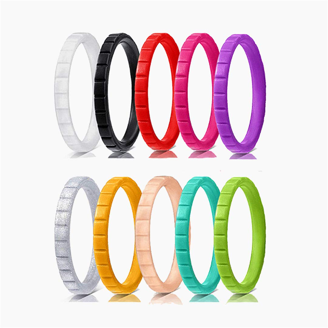Silikon Stapelbare Ring D U Nne Gummi Wedding Band Bunte Haut