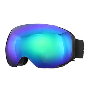 7d683becd83 ENKEEO Ski Goggles - Detachable Dual Layer Anti-Fog Magnet Lens 100% UV400  Protection