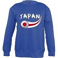 Supportershop–Japón–Sudadera Unisex niños, Azul Royal, FR: M (Talla