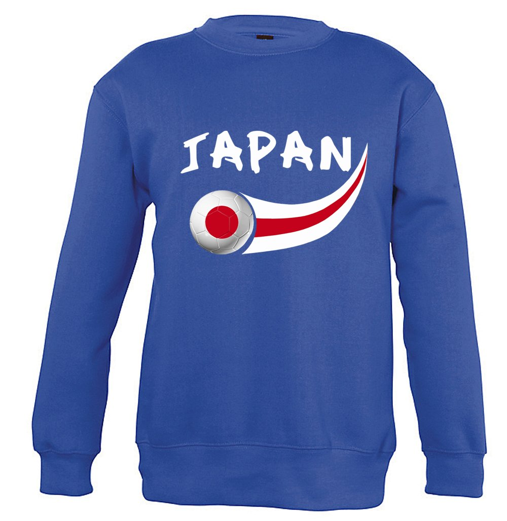Supportershop Japan Sweatshirt Unisex Kinder, Blau Royal, fr: M (Größe Hersteller: 6Jahre) SUPQM|#Supportershop 5060542527910
