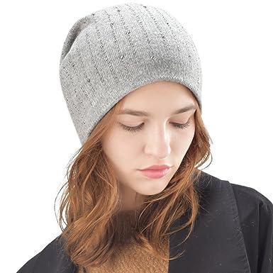 35d23b6ab0895c FURTALK Wool Winter Hats For Women - Ladies Knit Beanie Hat: Amazon.co.uk:  Clothing